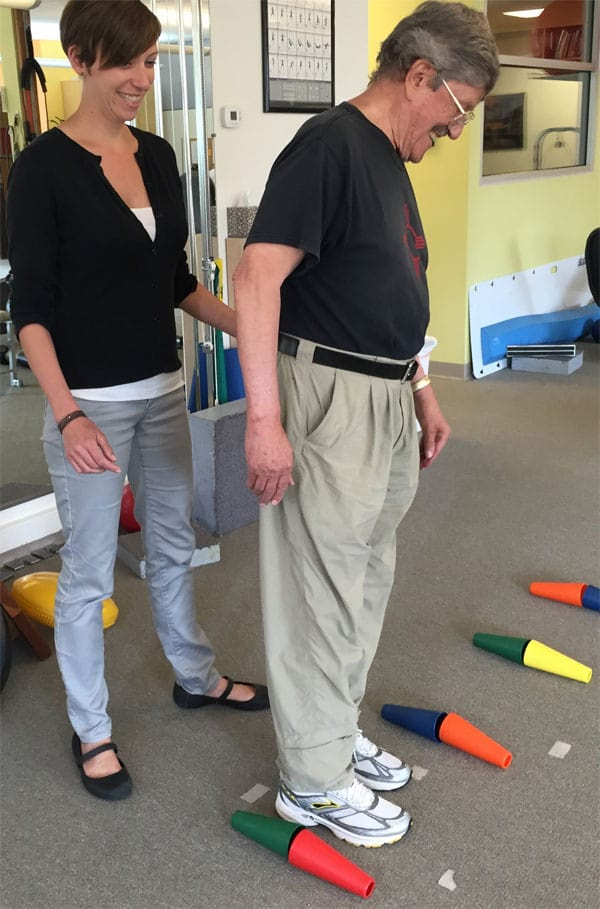Balance training at ALTA Physical Therapy and Pilates
