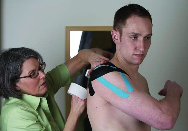 Therapeutic Taping - Jane with Client